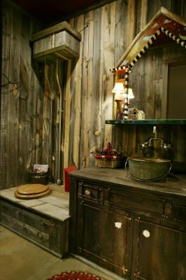 Cool indoor bathroom with an old outhouse feel Shop www