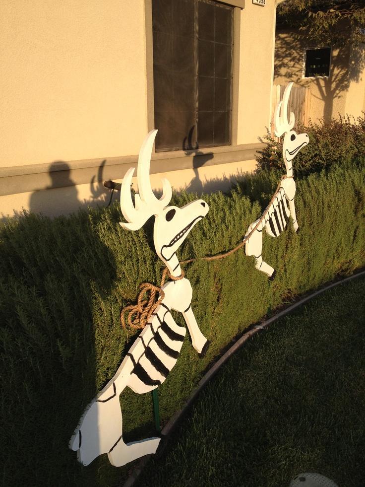 Skeleton reindeer  Nightmare Before Christmas Decorations  Pinterest  Reindeer and Skeletons