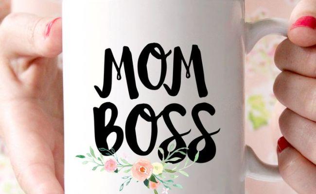 Mom Boss Flower Mug Mother S Day Gift Mom Mug By