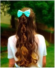 bubble fishtail braid hairstyles
