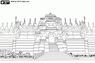 Monuments, Asia and Coloring pages on Pinterest