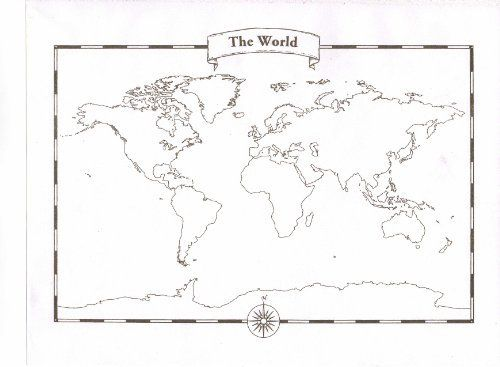 Blank World Map Pad by Miller Pads and Paper, http://www