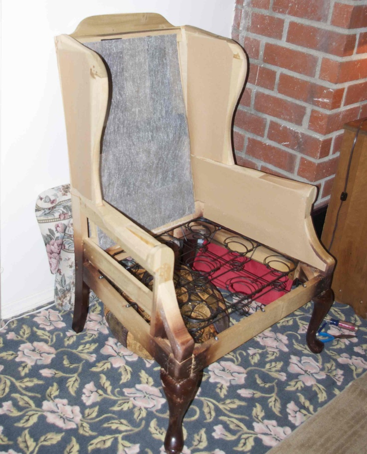1000 images about How to reupholster a Wingback Chair on