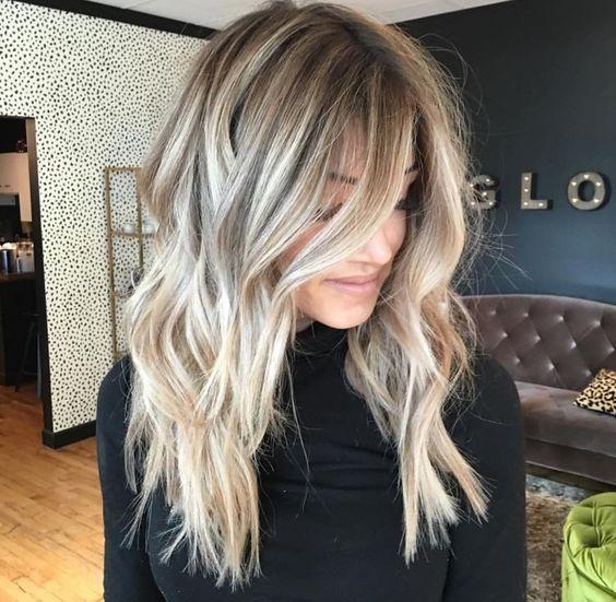 Die Besten 25 Lange Blonde Haarschnitte Ideen Auf Pinterest