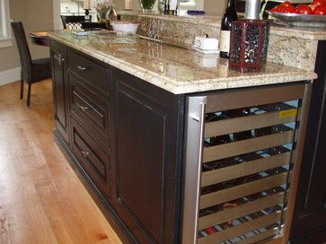 17 Best Images About Kitchen Island Remodelwine Fridge