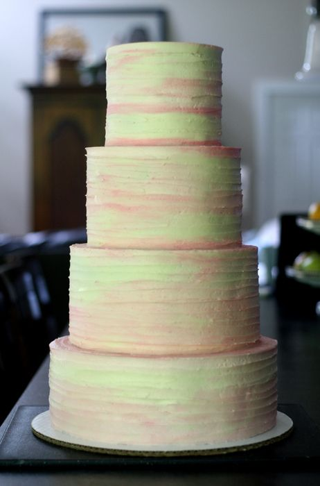 How To Achieve A Rustic Watercolor Buttercream Finish On