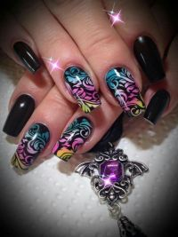 25+ best Airbrush nails ideas on Pinterest | Pretty nail ...