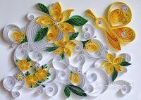 """Original Paper Quilling Wall Art. - The artwork """"Lemonade ..."""