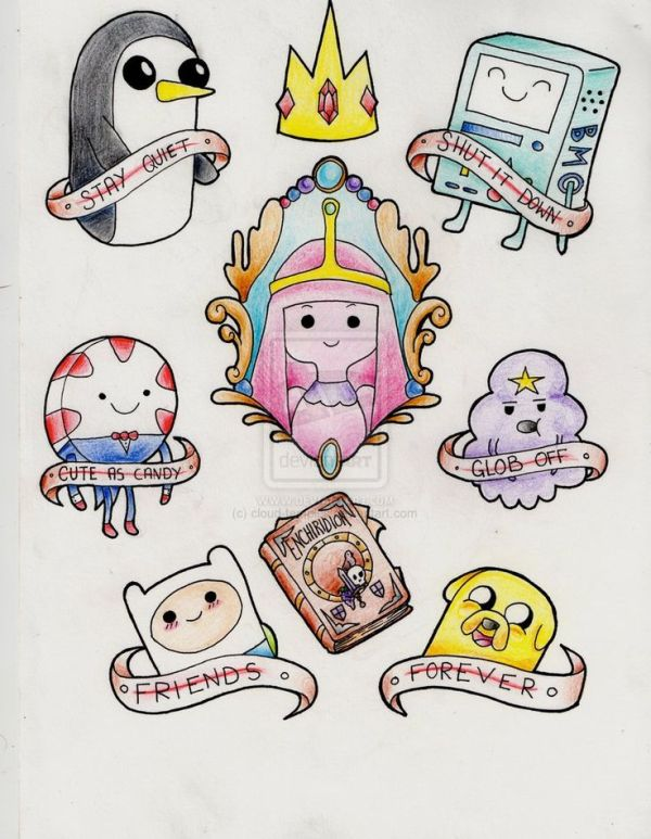 25 best ideas about Adventure time tattoo on Pinterest