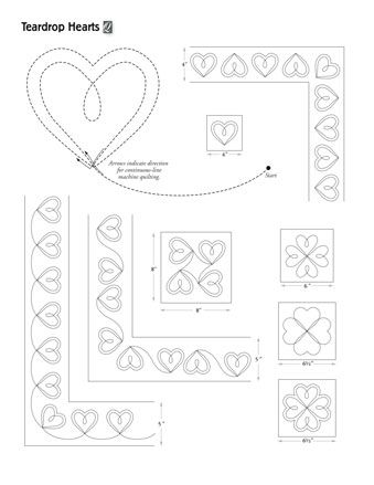 54 Best images about Hearts quilting designs on Pinterest
