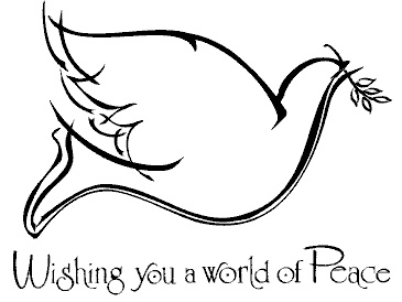 dove peace stencil for those cut out frame thingys