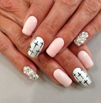Cross nail art | Nailed it | Pinterest | Acrylics, I love ...
