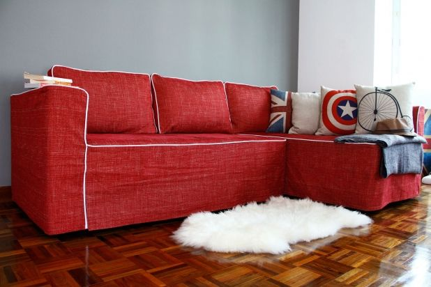 Couch Covers Delectable Red Couch Slipcovers With Captain America