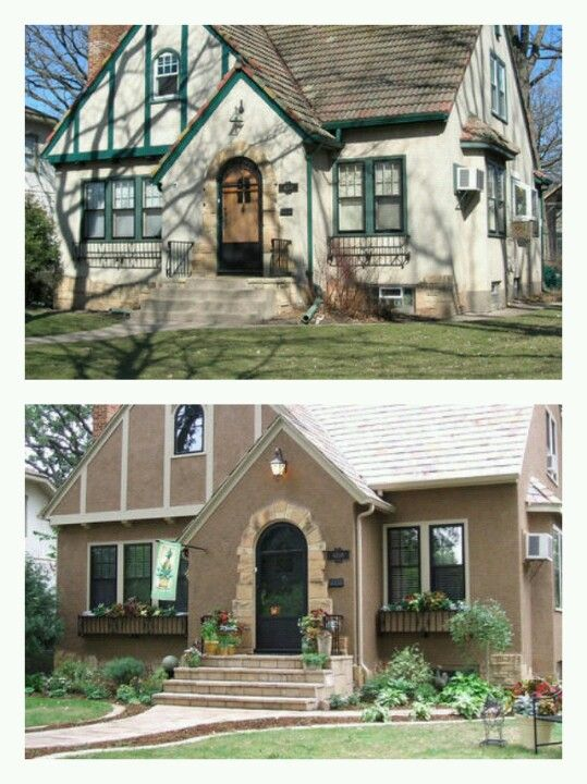 Hgtv Curb Appeal Tudor Before Amp After Before And After