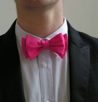 Mens bow ties, bow ties for men, hot pink wedding bow tie