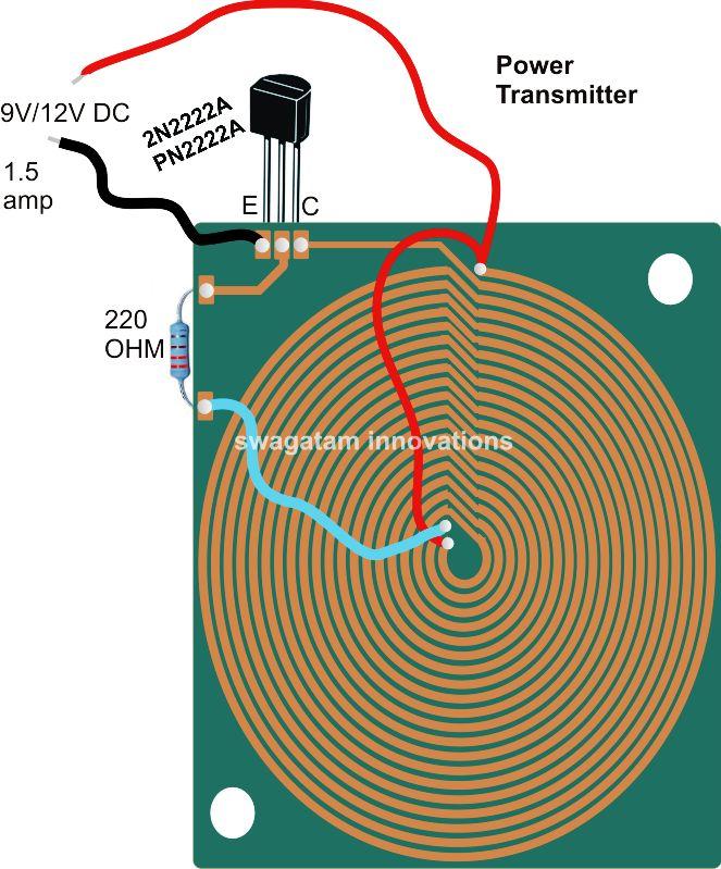 Wireless Power Transfer Circuit Eletronic Components Pinterest