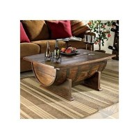 Handmade Vintage Oak Whiskey Barrel Coffee Table - $875.00 ...