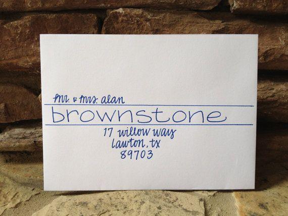 Wedding Invitation Addressing Handwritten Envelopes