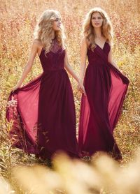 20+ best ideas about Maroon Bridesmaid Dresses on ...