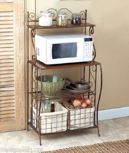 bakers racks for kitchens lantern pendant light kitchen 25+ best ideas about microwave cart on pinterest | small ...