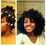twist and curls with perm rods