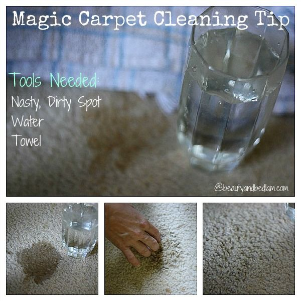 magic carpet cleaning tip