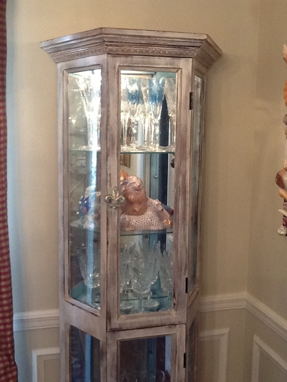 An Old Oak Curio Cabinet Gets A Makeover I Painted The