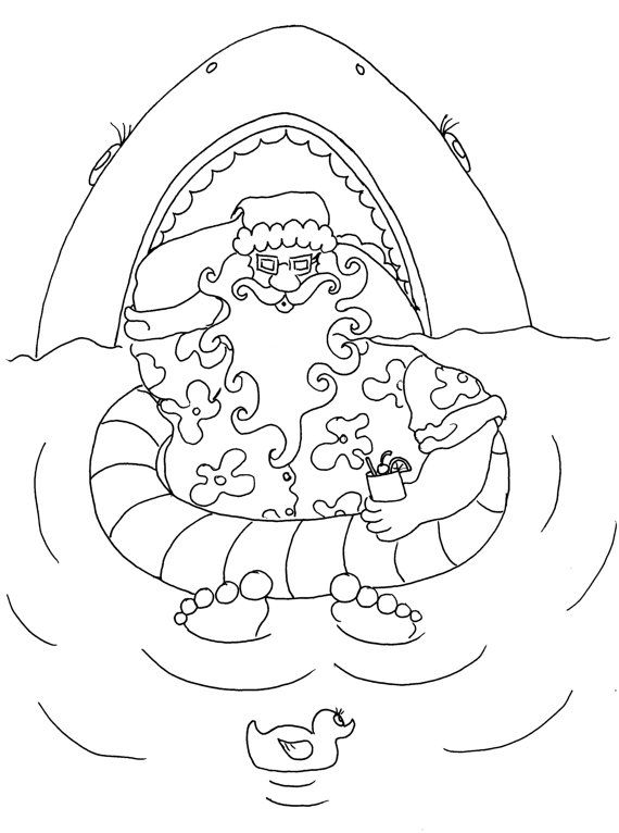 chubby jaws  christmas coloring pages for adults from the