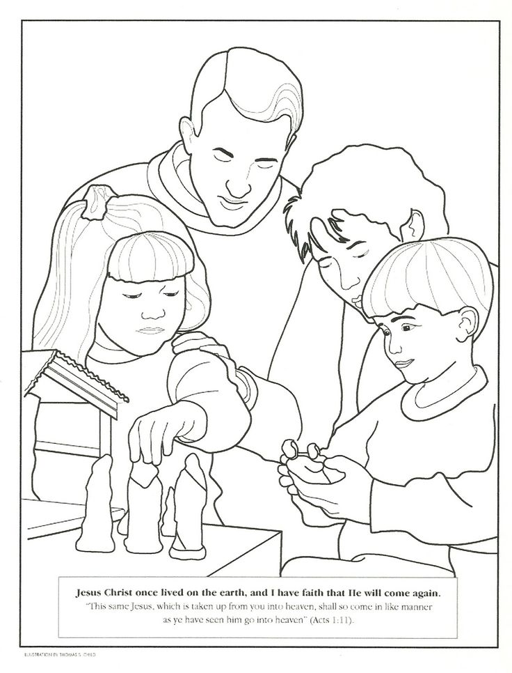 Serving Others Lds Primary Pages Coloring Pages