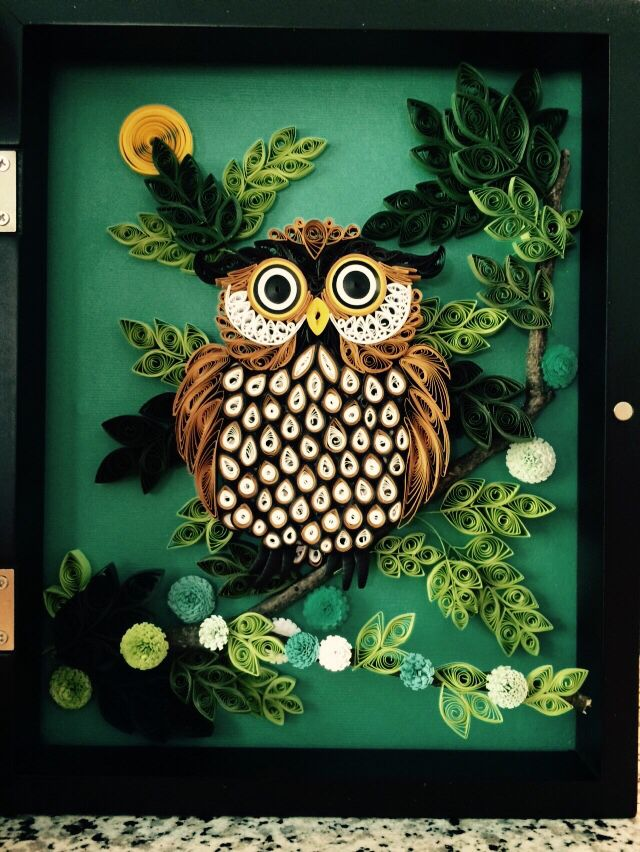 Quilled Owl Owls Pinterest Owl And Quilling