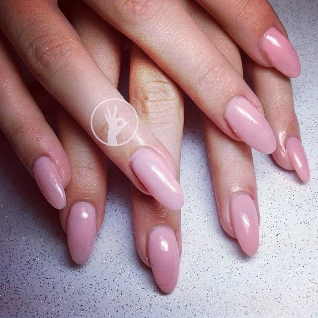 Pink oval shaped nails  Nails  Pinterest  Beautiful