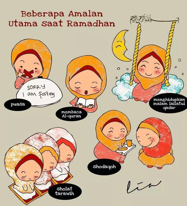 Amalan saat ramadhan  kartun dakwah  Pinterest