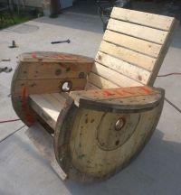 Wooden spools, Rocking chairs and Cable on Pinterest