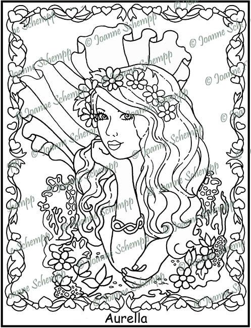 Adult Printable Coloring page, Papercraft, Digital Image