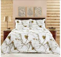 Realtree Bedding Set - Bright Snow White Camo   No ...