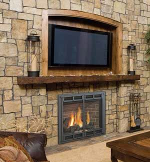 pictures of small living rooms with fireplaces wall colors for room brown furniture fireplace recessed tv mount | pinterest ...