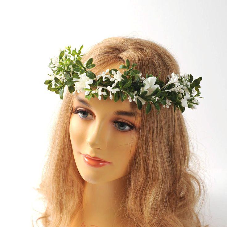 Woodland Wedding Head Piece Bridal Head Wreath Floral