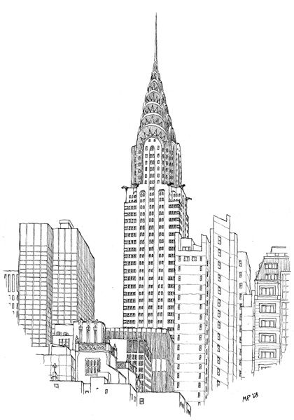 The Chrysler Building, drawn by the great Matteo Pericoli