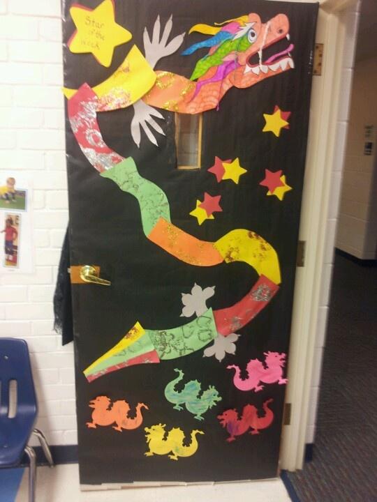 Classroom door Chinese new year (Feb 19, 2015)