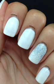 ideas white gel nails
