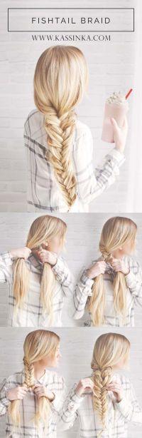 Best Hair Braiding Tutorials  Fishtail Braid 101  Easy ...
