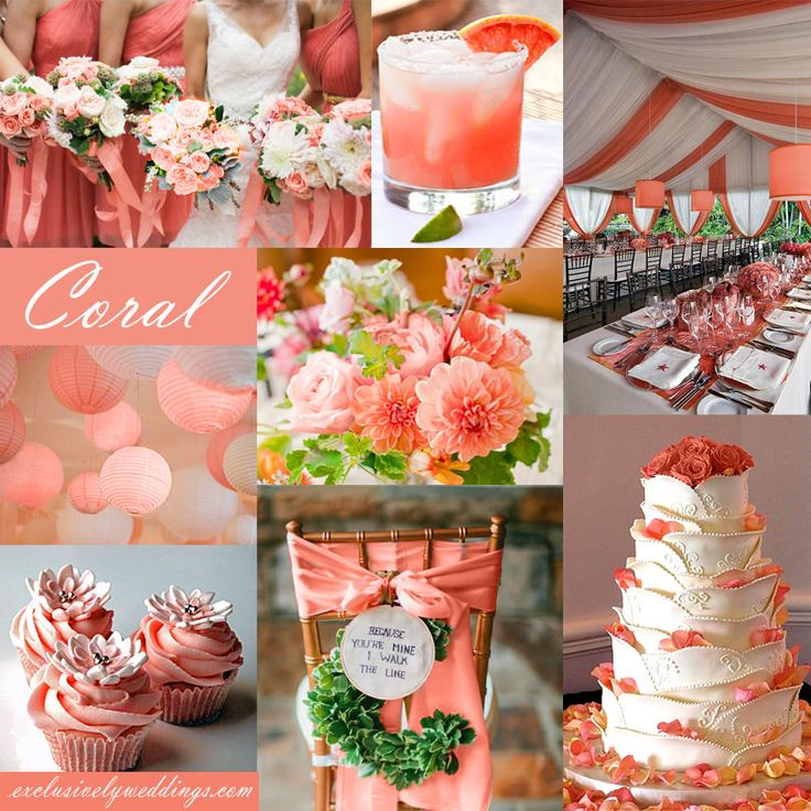 Best 25 Coral wedding colors ideas on Pinterest