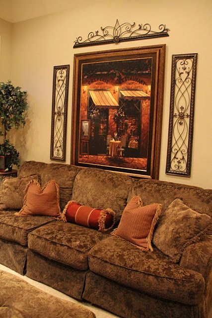 above sofa artwork velvet cushion covers 25+ best ideas about tuscan living rooms on pinterest ...