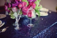 Navy Sequin Tablecloth by CandyCrushEvents on Etsy, $38.00 ...