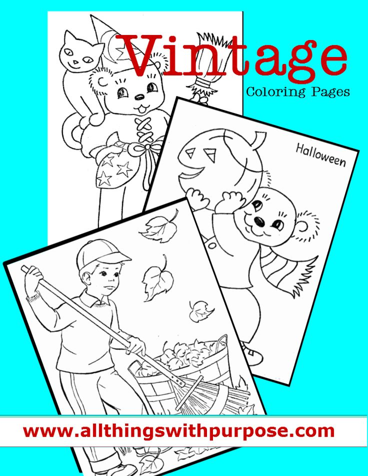 vintage coloring pages for fall  coloring vintage and