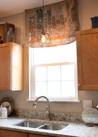 17 Best ideas about Burlap Window Treatments on Pinterest ...