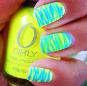 stunning neon nail design