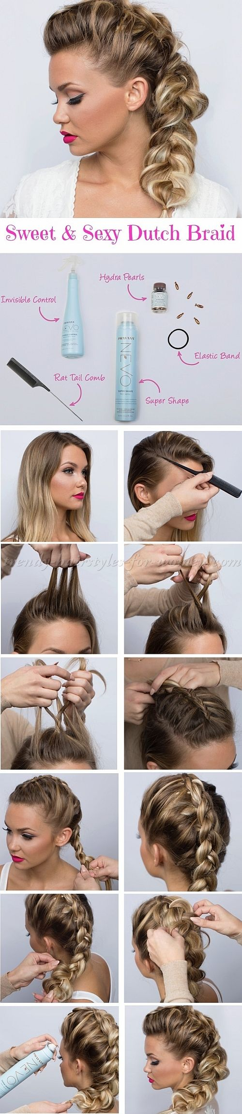 1000+ ideas about Dutch Braid Tutorials on Pinterest