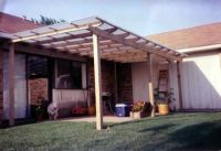 Fairly simple inexpensive deck roof. | Outdoor space ...