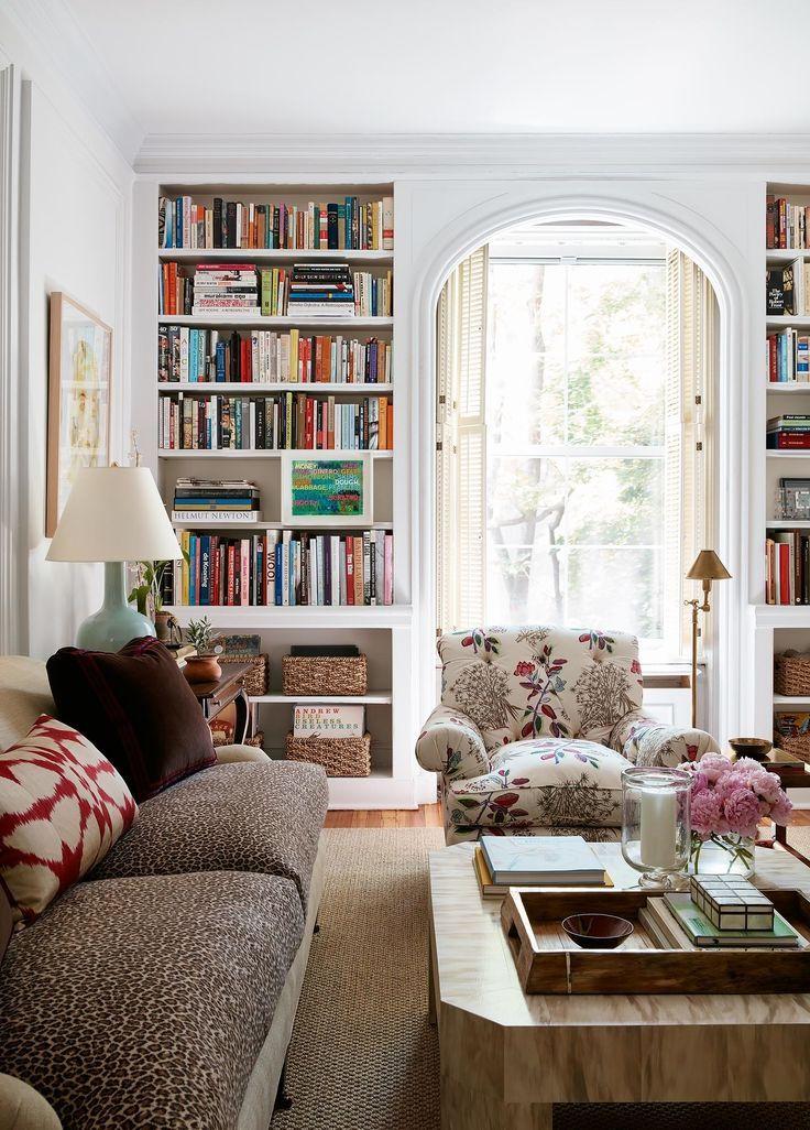 25 best ideas about Living Room Bookshelves on Pinterest